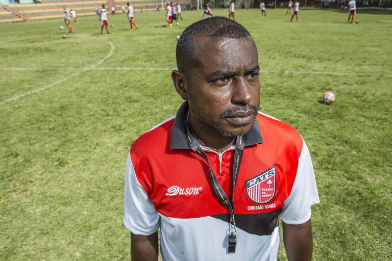 Baiano quando ainda comandava o Taboão da Serra na Série A3 do Campeonato Paulista 2019