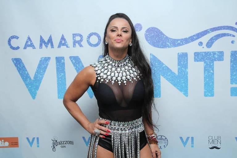Carnaval 2019: Viviane Araújo no camarote Vivant, no Rio de Janeiro, no domingo