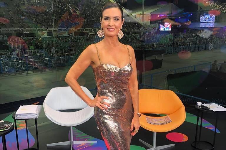 Carnaval 2019: Fátima Bernardes no segundo dia de transmissão dos desfiles da Sapucaí