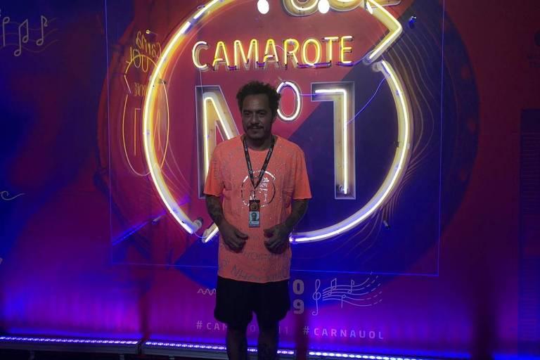 Carnaval 2019: Marcelo D2 no camarote Nº1, na segunda noite de desfiles das escolas de samba do Rio de Janeiro