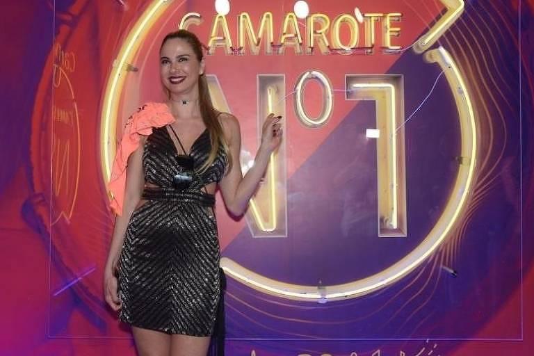 Luciana Gimenez no camarote CarnaUOL N°1, no Rio