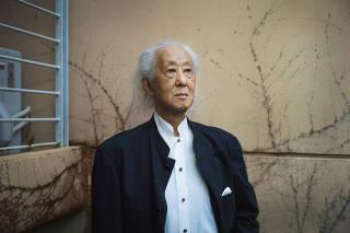 Arata Isozaki, the Japanese architect, teacher and theorist, in Naha, Okinawa, Japan.