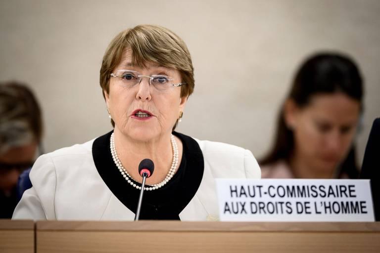 Michelle Bachelet, alta comissária de Direitos Humanos da ONU, em seu discurso em Genebra