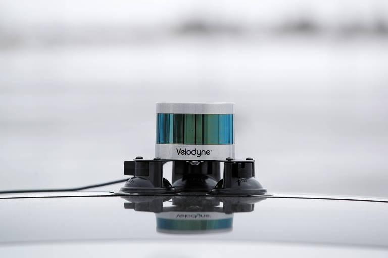 Sensor da Velodyne utilizado por carros autônomos