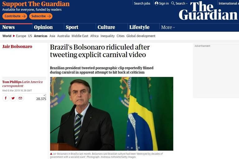 Imprensa internacional repercute posts obscenos de Bolsonaro