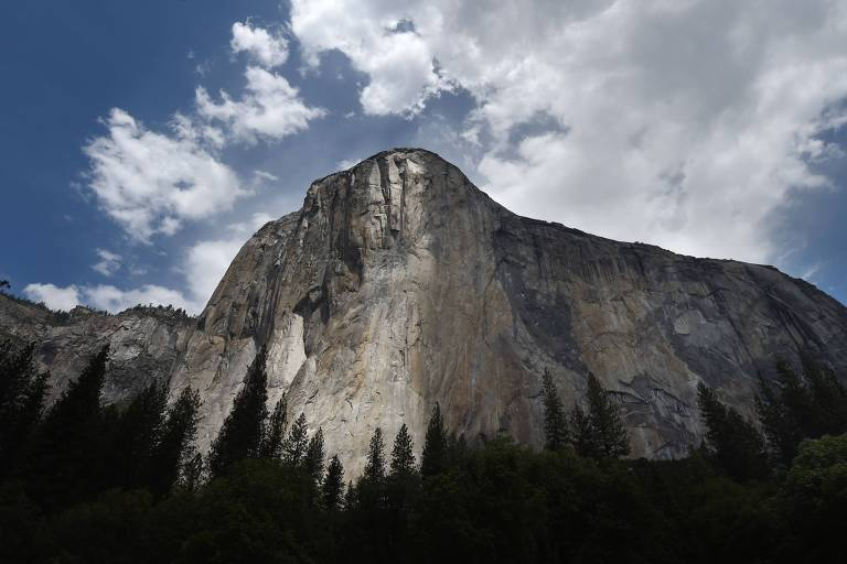 O monte El Capitán, na Califórnia (EUA)