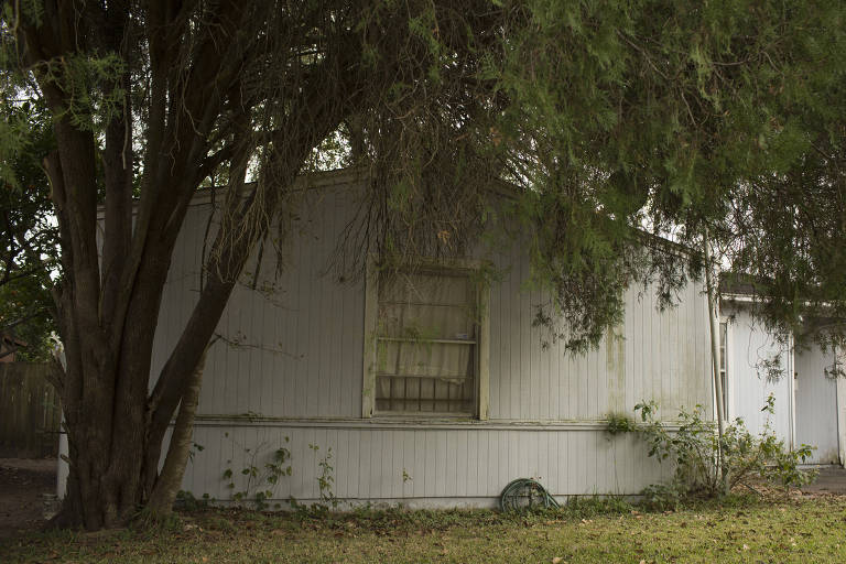 A property used as a stash house in Houston, where three migrants were reportedly raped, Dec. 13, 2017. Of all the hazards facing migrant women along the southwest border, one of the most ubiquitous and devastating is sexual assault. (Caitlin O'Hara/The New York Times)