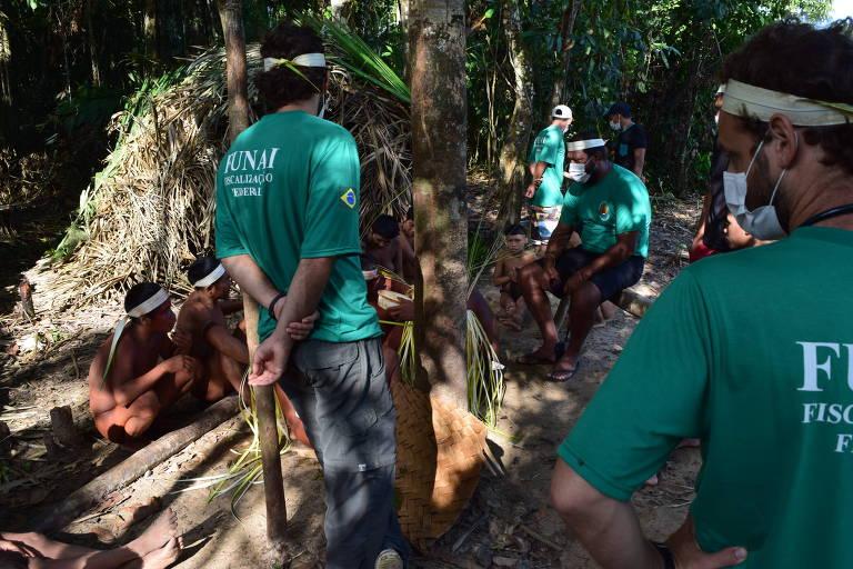 Expedição de Monitoramento e Proteção dos Korubo do Coari, realizada em 2015 pela Funai. Organização volta à região para realizar novo contato com grupos indígenas isolados