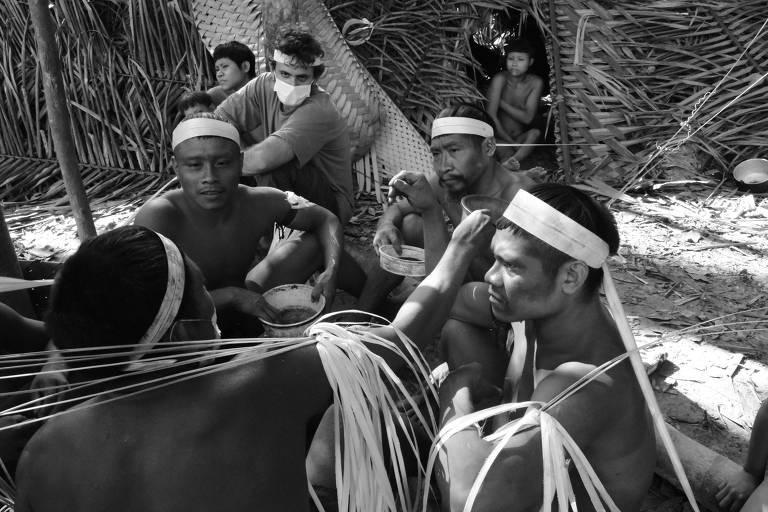Registro do contato feito em 2015 pela Expedição Monitoramento e Proteção dos Korubo do Coari
