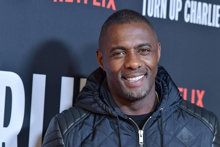 """Idris Elba no lançamento da série """"Turn Up Charlie"""""""