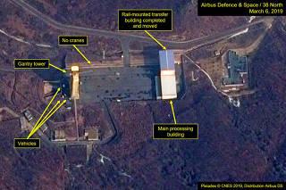 A satellite image of North Korea's Sohae Satellite Launching Station