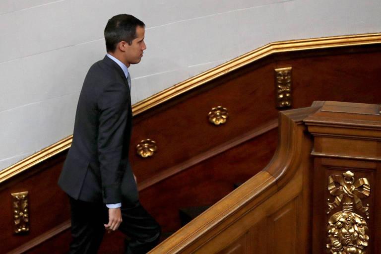 Juan Guaidó comparece a sessão da Assembleia Nacional da Venezuela