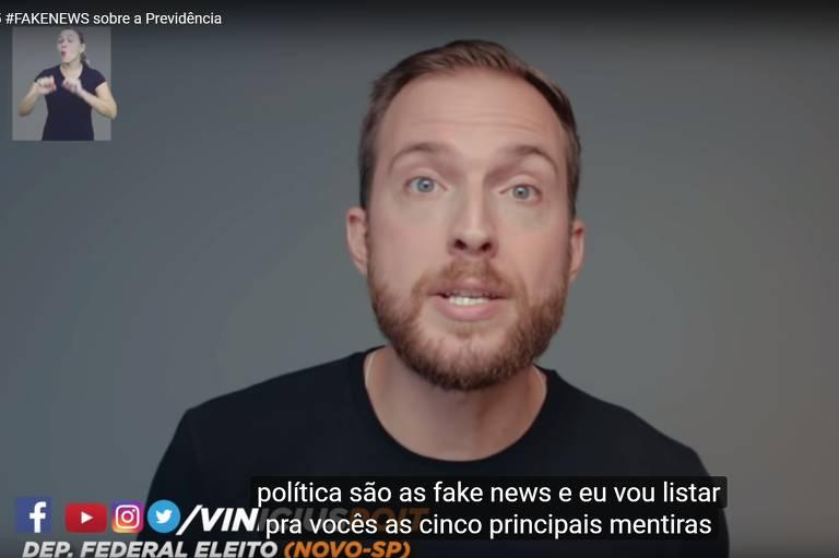 Deputado Vinicius Poit faz video em que aponta o que chama de cinco fake news sobre reforma da Previdência