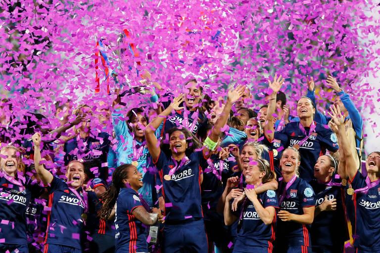 O Lyon foi o campeão da última edição da Champions League, decidida em Kiev, na Ucrânia