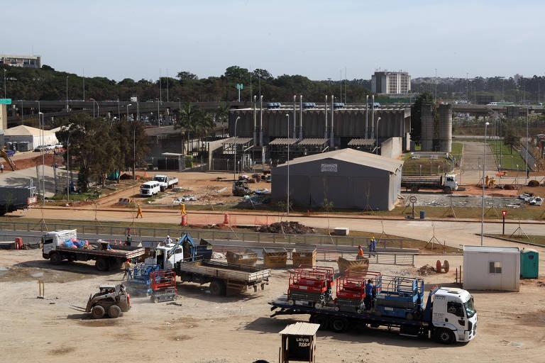 Obras de ampliação do aeroporto de Guarulhos (SP), que foram executadas pela empreiteira OAS