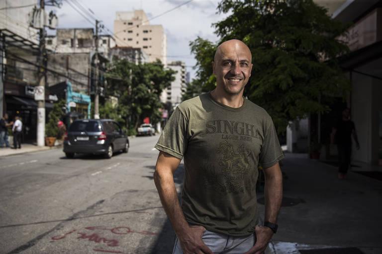 O empresário Carlos Pascotto Junior na zona sul de SP