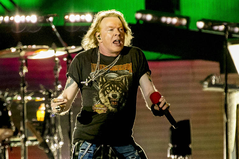 A banda Guns N' Roses, se apresenta no São Paulo Trip, em 2017
