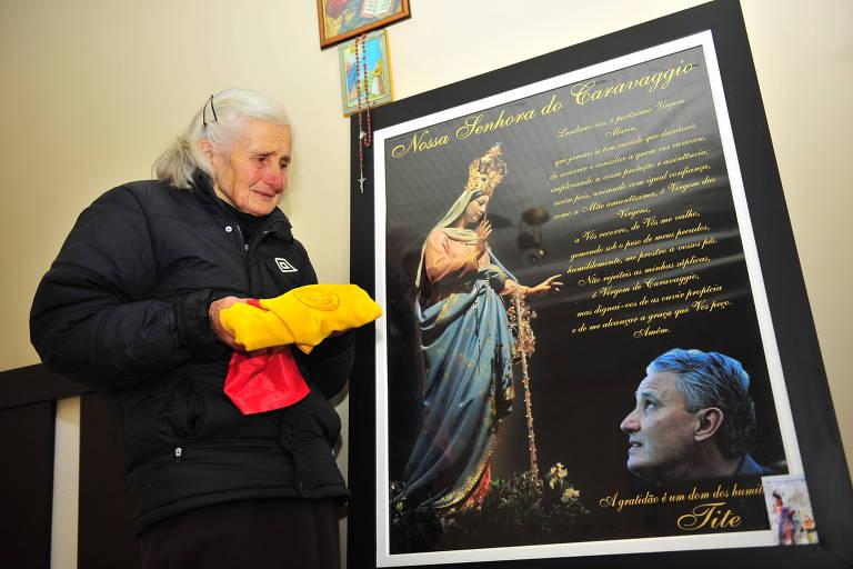 Ivone Bachi recebeu a reportagem da Folha em sua casa no ano de 2016