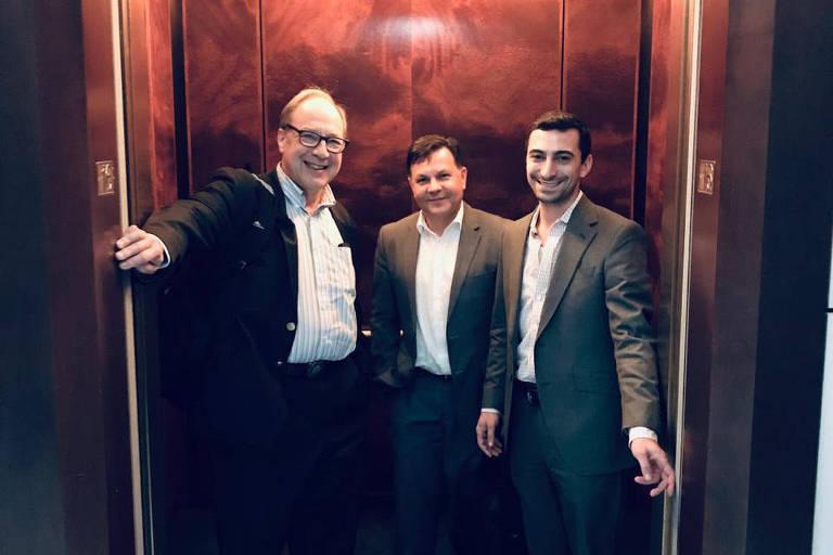 Harry Lewis (à esq), ao lado de Milo Stevanovich e Andrew Auerbach, seus parceiros na startup Zerho