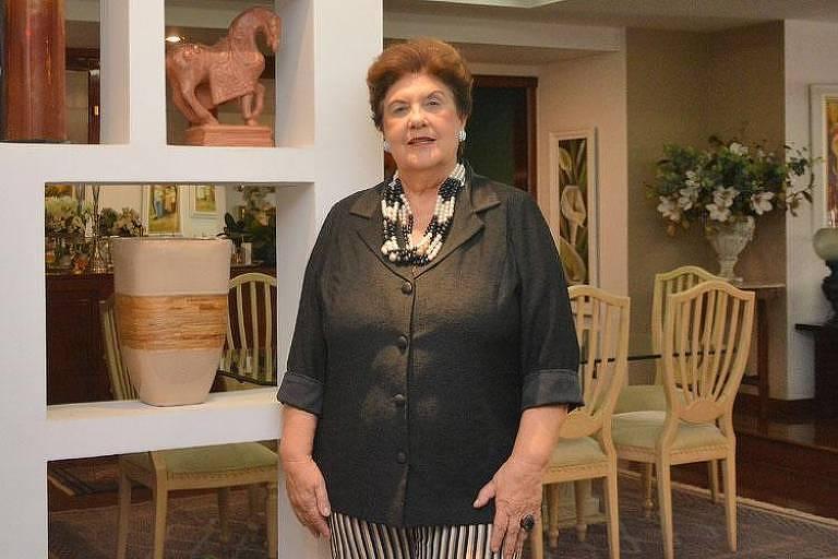 A empreendedora Odette Alves, conhecida como Tizinha em Juiz de Fora (MG)