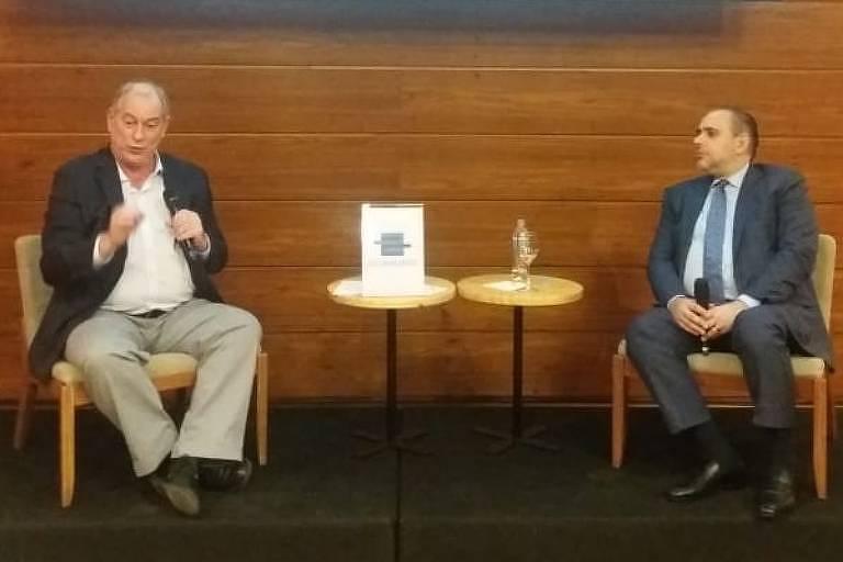 Ciro Gomes (PDT) em evento organizado pelo Instituto para Reforma das Relações entre Estado e Empresa, em São Paulo (SP)