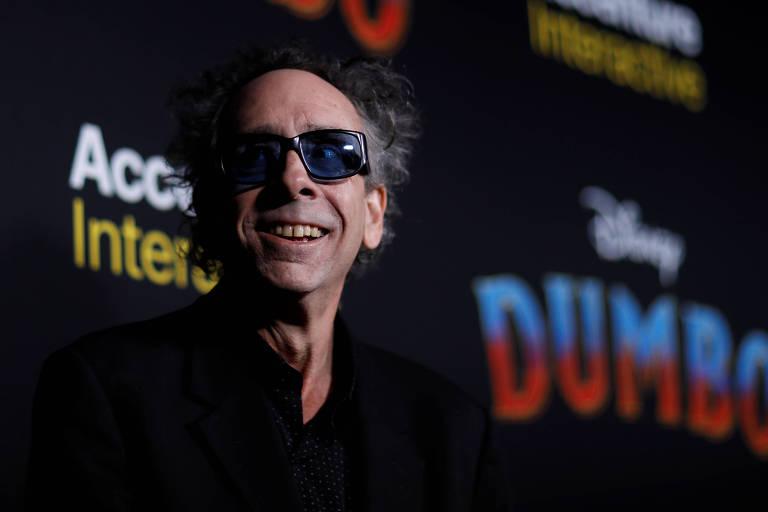 """Tim Burton na pré-estreia de """"Dumbo"""", nos Estados Unidos"""