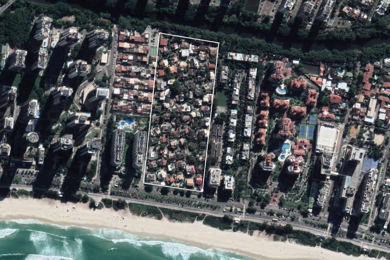 Condomínio Vivendas da Barra, no Rio, onde o presidente Jair Bolsonaro tem casa