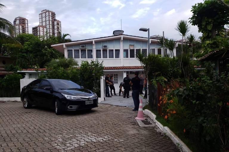 Fachada da casa de Ronnie Lessa, ex-PM preso sob a suspeita de ter matado Marielle