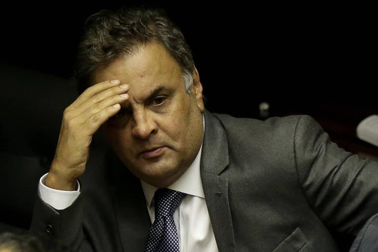 O ex-senador e deputado federal Aécio Neves (PSDB-MG) no plenário da Câmara