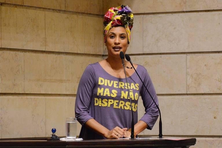 Marielle Franco na Câmara Municipal do Rio em 2017