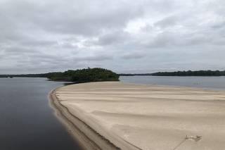 Praia no rio Negro, no Amazônia