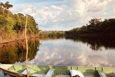 O rio Negro e o barco que deixa ecoturistas mais próximos das atrações da selva, no alto Amazonas