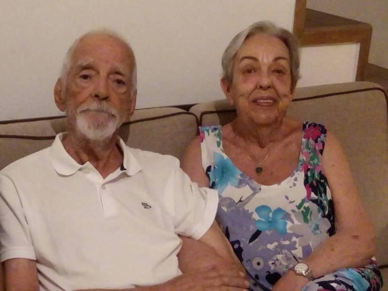 O advogado criminalista Paulo Piratininga com a mulher, Lygia