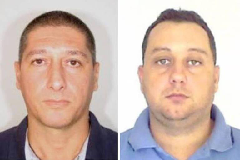 PM reformado Ronnie Lessa, que teria efetuado disparos, e o ex-policial Élcio Queiroz, acusado de dirigir o carro do atirador