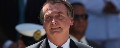 Brazil's President Jair Bolsonaro attends a ceremony in celebration of 211th anniversary of Brazilian Marine Corps in Rio de Janeiro, Brazil March 7, 2019. REUTERS/Ricardo Moraes ORG XMIT: RJO08
