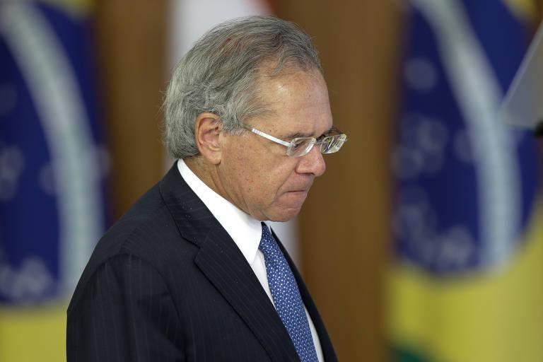 O ministro Paulo Guedes (Economia) no Palácio do Planalto
