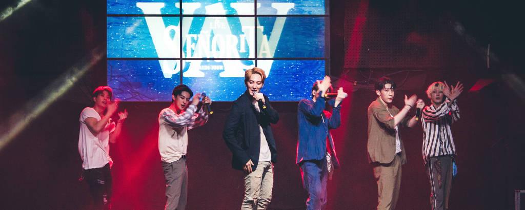 Grupo de K-pop VAV em shows no Brasil (2019)
