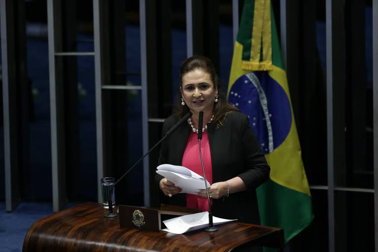A senadora Katia Abreu (PDT-TO) na tribuna