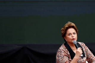 Brazil's former President Rousseff attends a meeting of the World Forum of Critical Thought in Buenos Aires