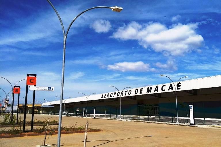 Vista do aeroporto de Macaé (RJ)
