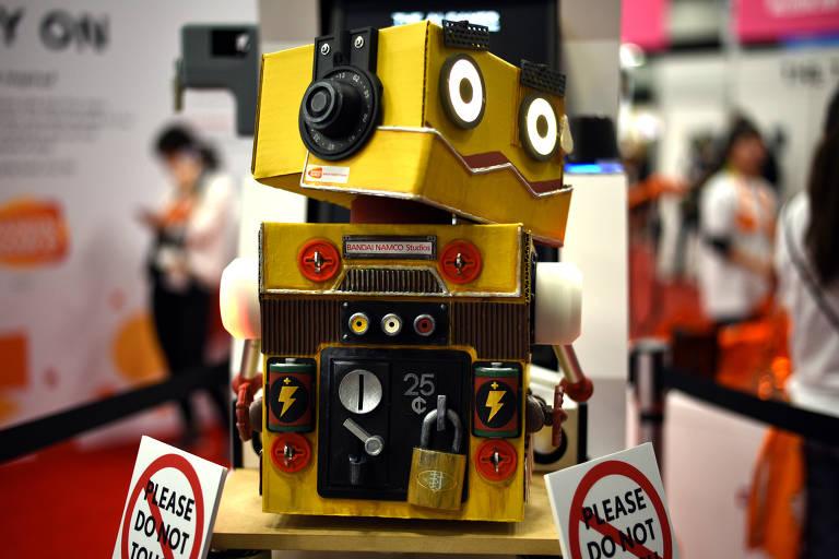 Bandi Namco Studios Gamer AI em exibição no Austin Convention Center do SXSW