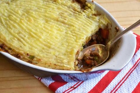 Escondidinho de carne tem receita inspirada em tradicional prato inglês crédito: Juliana Ventura/Arquivo pessoal