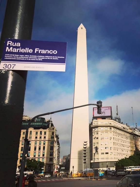 Argentina registra série de homenagens à vereadora Marielle Franco