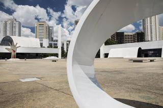 ***Especial 30 anos do Memorial da America Latina*** Vista  externa das instalacoes do  Memorial da America Latina
