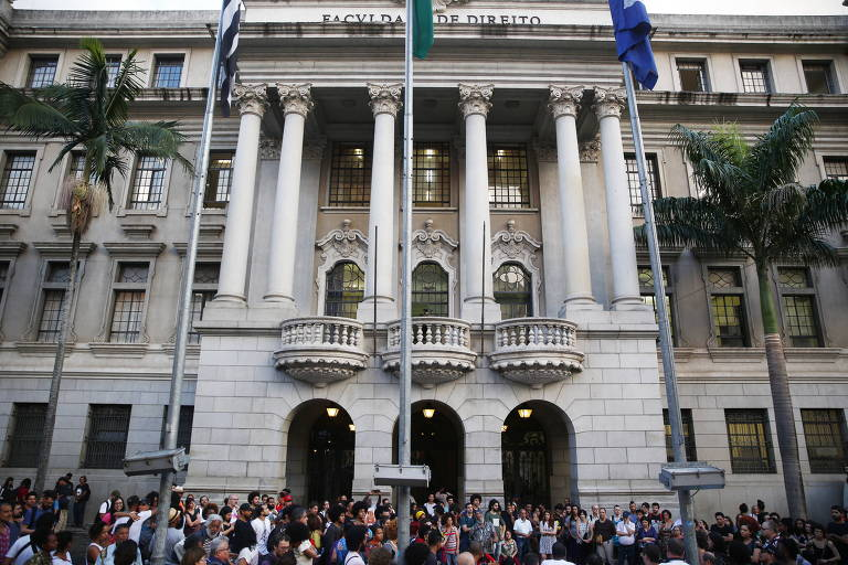 Fachada do prédio da Faculdade de Direito da USP
