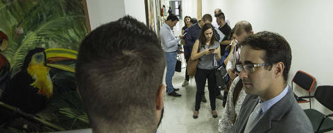 SÃO PAULO, SP, BRASIL. 18/03/2019. Assessores fazem fila na Assembleia para protocolar pedidos de CPI desde sexta (15). (Foto:Jardiel Carvalho/Folhapress - PODER) *EXCLUSIVO FOLHA