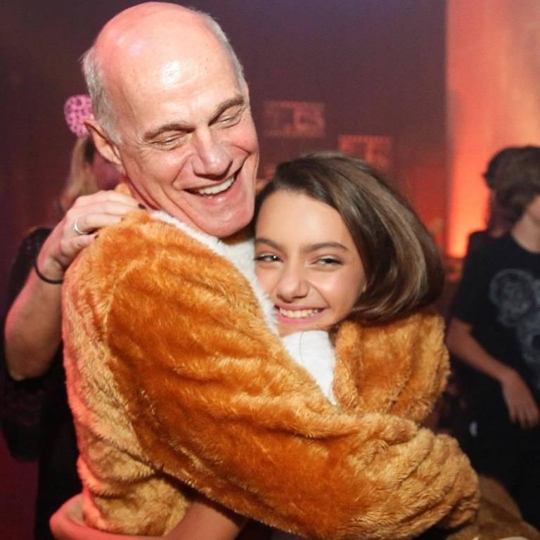 Ricardo Boechat e a filha, Valentina