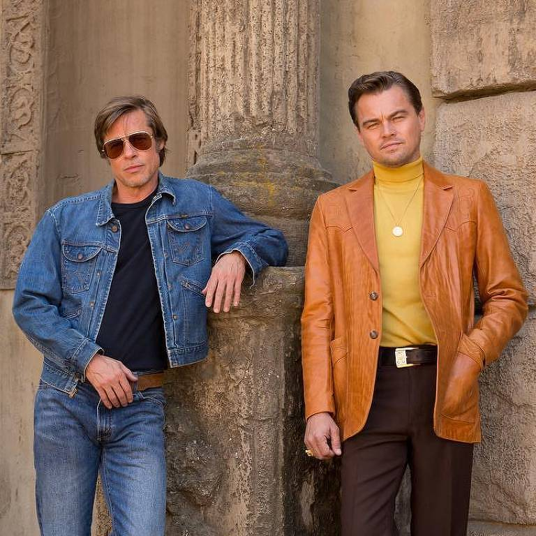 Brad Pitt e Leonardo DiCaprio em primeira foto do filme 'Once upon a time in Hollywood', de Quentin Tarantino