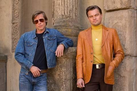 Brad Pitt e Leonardo DiCaprio em primeira foto do filme 'Once upon a time in Hollywood', de Quentin Tarantino