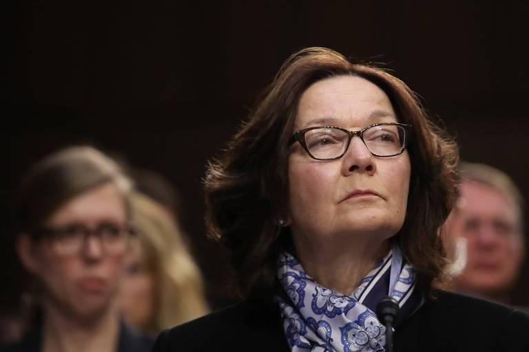 Gina Haspel, diretora da CIA, testemunha no Comitê de Inteligência do Senado americano no fim de janeiro
